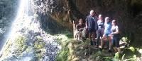Family at Bridale Veil Falls | Oscar Bedford