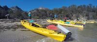Taking a break from kayaking on Coles Bay | Brad Atwal
